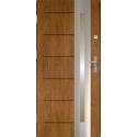 Drzwi zewnętrzne RONIN - Winchester INOX. Szklenie Stopsol. Produkt polski.