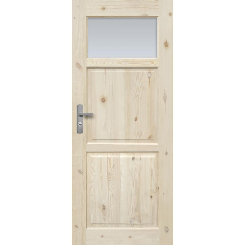 """Drzwi sosnowe, seczne, nieszklone - """"Lugano"""" wersja 1S - Seria Classic - Drzwi wewnetrzne drewniane """"RADEX"""""""