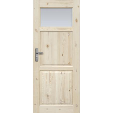 """Drzwi sosnowe, sęczne - """"Lugano"""" wersja 1S - Seria Classic - Drzwi wewnętrzne drewniane """"RADEX"""""""