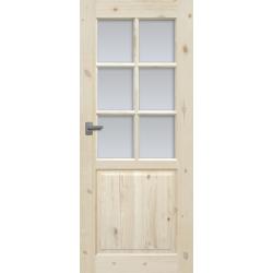 """Drzwi sosnowe, sęczne - """"Lugano"""" wersja 6S - Seria Classic - Drzwi wewnętrzne drewniane """"RADEX"""""""