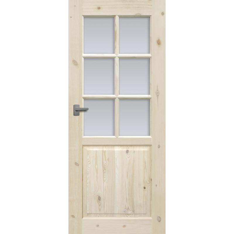 """Drzwi sosnowe, sęczne,  - """"Lugano"""" wersja 6S - Seria Classic - Drzwi wewnętrzne drewniane """"RADEX"""""""