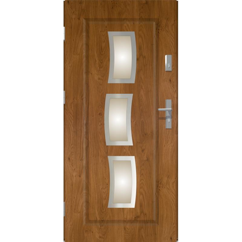 Drzwi zewnętrzne przeszklone STARS - Winchester INOX. Produkt POLSKI.