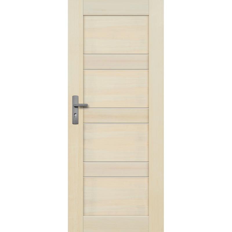 """Drzwi sosnowe, bezsęczne - Nefryt pełne - Seria Premium - Drzwi wewnętrzne drewniane """"RADEX"""""""