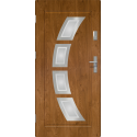 Drzwi zewnętrzne przeszklone HERMES -Winchester. INOX. Produkt POLSKI.