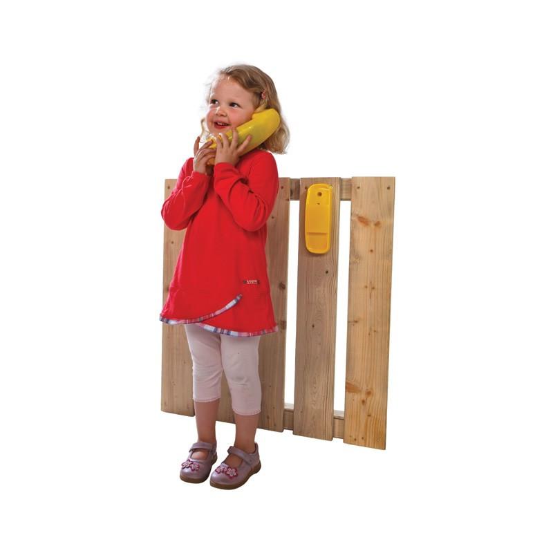 Telefon na place zabaw i do domkow drewnianych