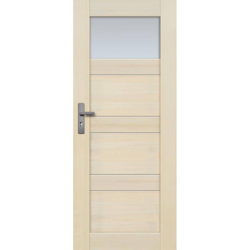 """Drzwi sosnowe, bezsęczne - Nefryt z jedną szybą - Seria Premium - Drzwi wewnętrzne drewniane """"RADEX"""""""