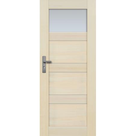 """Drzwi sosnowe, bezsęczne - Nefryt 1S - Seria Premium - Drzwi wewnętrzne drewniane """"RADEX"""""""