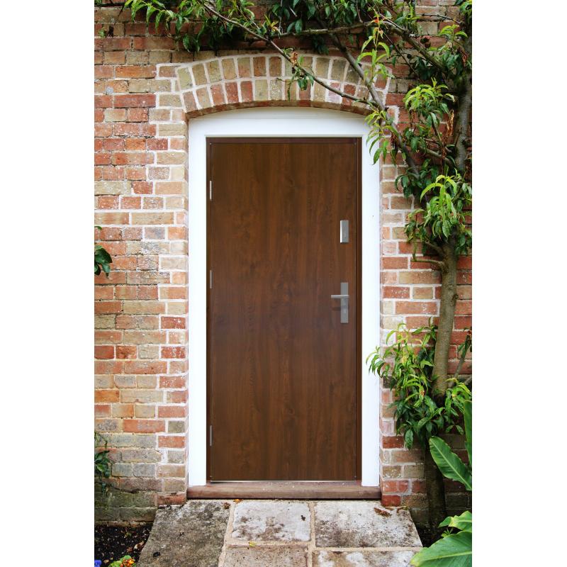 Drzwi zewnętrzne pełne KYPROS - Winchester. Produkt POLSKI.