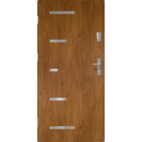 Drzwi zewnętrzne pełne SPARTA - Winchester.  INOX. Produkt POLSKI.