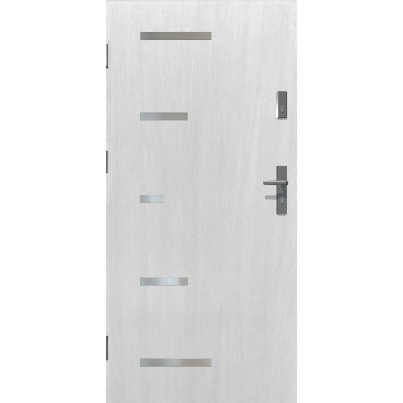 Rewelacyjny Drzwi zewnętrzne SPARTA - Białe. INOX. Produkt POLSKI. - Sklep AF35