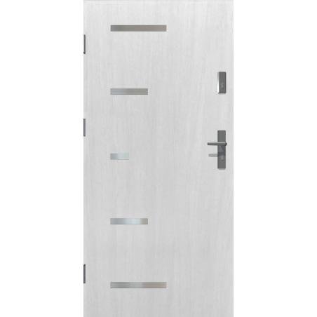 Drzwi zewnętrzne SPARTA - Białe. INOX. Produkt POLSKI.
