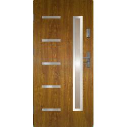 Drzwi zewnętrzne przeszklone JUVENTUS - Złoty Dąb INOX. Produkt POLSKI.