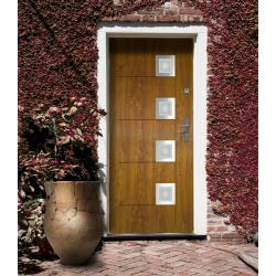 Drzwi zewnętrzne przeszklone KARAT - Produkt polski.