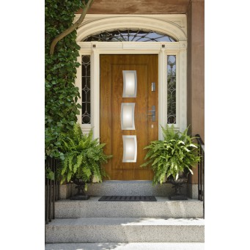 Drzwi zewnętrzne przeszklone KARAT - Produkt polski- aranżacja