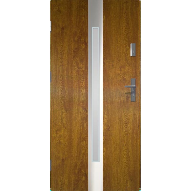 Oryginał Drzwi zewnętrzne przeszklone IVORY - Złoty Dąb. Produkt POLSKI KQ94