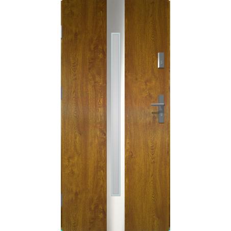 Drzwi zewnętrzne przeszklone IVORY - Złoty Dąb. Produkt POLSKI.