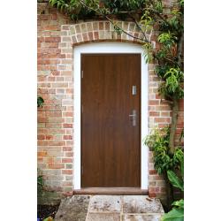 Drzwi zewnętrzne pełne KYPROS - Złoty Dąb. Produkt POLSKI.
