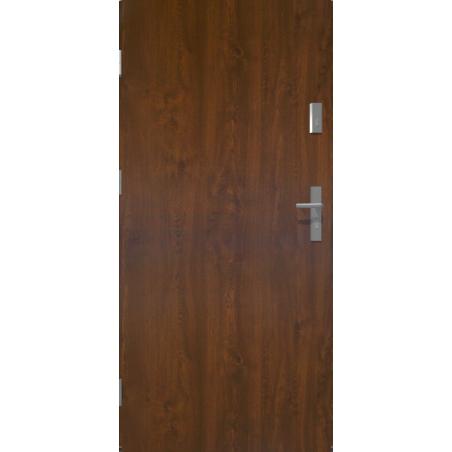 Drzwi zewnętrzne pełne KYPROS - Ciemny Orzech. Produkt POLSKI.
