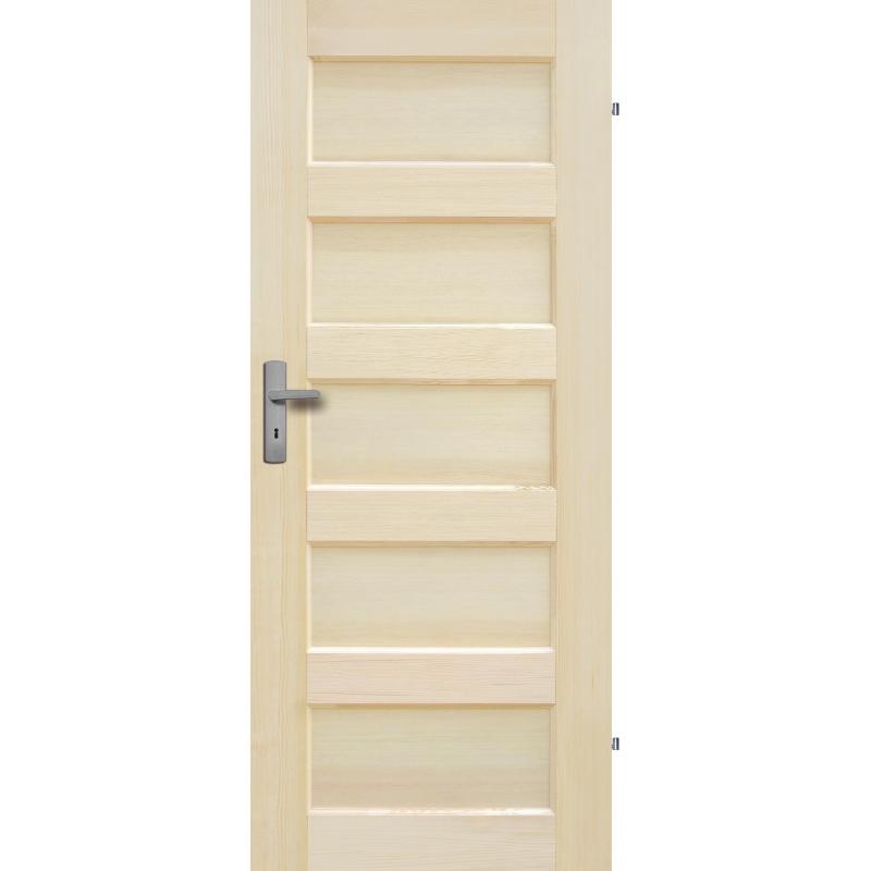 """Drzwi sosnowe, bezsęczne - """"Obsydian"""" pełne - Seria Fog - Drzwi wewnętrzne drewniane """"RADEX"""""""