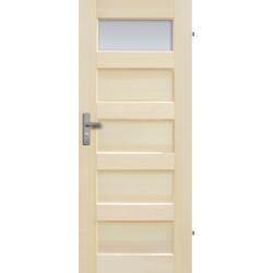 """Drzwi sosnowe, bezseczne - """"Istria"""" z szyba - Seria Fog - Drzwi wewnetrzne drewniane """"RADEX"""""""