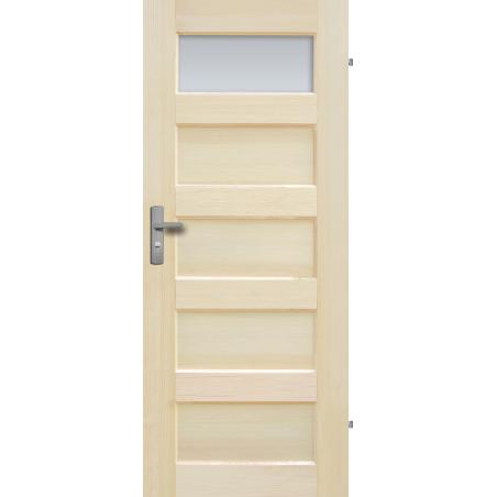 """Drzwi sosnowe, bezsęczne - Istria 1S - Seria Fog - Drzwi wewnętrzne drewniane """"RADEX"""""""