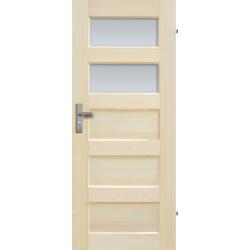 """Drzwi sosnowe, bezseczne - """"Istria"""" z 2 szybami - Seria Fog - Drzwi wewnetrzne drewniane """"RADEX"""""""