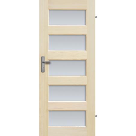"""Drzwi sosnowe, bezsęczne - """"Istria"""" 5S - Seria Fog - Drzwi wewnętrzne drewniane """"RADEX"""""""