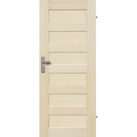 """Drzwi sosnowe, bezsęczne - """"Manhattan"""" pełne - Seria Fog - Drzwi wewnętrzne drewniane """"RADEX"""""""