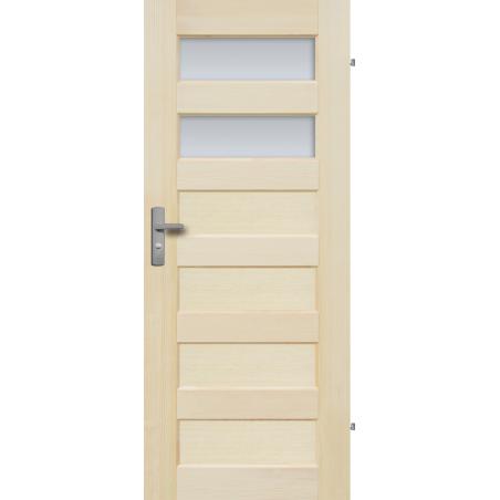 """Drzwi sosnowe, bezsęczne - """"Manhattan"""" 2S - Seria Fog - Drzwi wewnętrzne drewniane """"RADEX"""""""