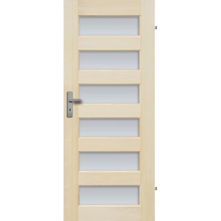 """Drzwi sosnowe, bezsęczne - """"Manhattan"""" 6S - Seria Fog - Drzwi wewnętrzne drewniane """"RADEX"""""""