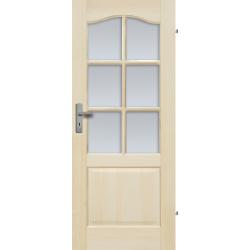 """Drzwi sosnowe, bezseczne - """"Tryplet"""" z 6 szybami - Seria Fog - Drzwi wewnetrzne drewniane """"RADEX"""""""