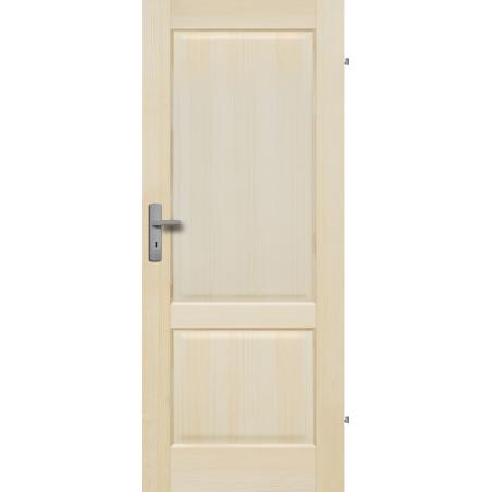 """Drzwi sosnowe, bezsęczne - """"Turyn"""" pełne - Seria Fog - Drzwi wewnętrzne drewniane """"RADEX"""""""