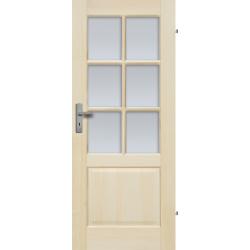 """Drzwi sosnowe, bezseczne - """"Turyn"""" 6S - Seria Fog - Drzwi wewnetrzne drewniane """"RADEX"""""""