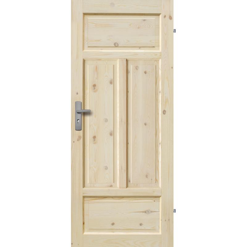 """Drzwi sosnowe, seczne - """"Verona"""" pelne - Seria Classic - Drzwi wewnetrzne drewniane """"RADEX"""""""