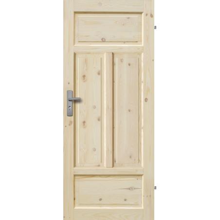 """Drzwi sosnowe, sęczne - """"Verona"""" pełne - Seria Classic - Drzwi wewnętrzne drewniane """"RADEX"""""""