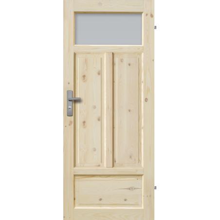 """Drzwi sosnowe, sęczne - """"Verona"""" wersja 1S - Seria Classic - Drzwi wewnętrzne drewniane """"RADEX"""""""