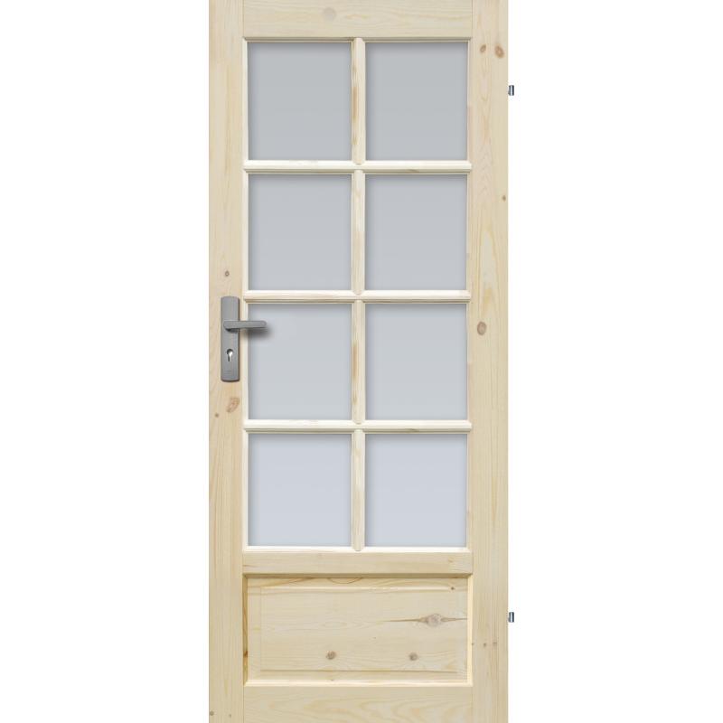 """Drzwi sosnowe, seczne - """"Verona"""" wersja 8S - Seria Classic - Drzwi wewnetrzne drewniane """"RADEX"""""""