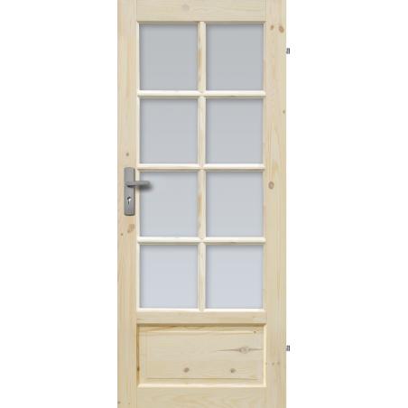 """Drzwi sosnowe, sęczne - """"Verona"""" wersja 8S - Seria Classic - Drzwi wewnętrzne drewniane """"RADEX"""""""