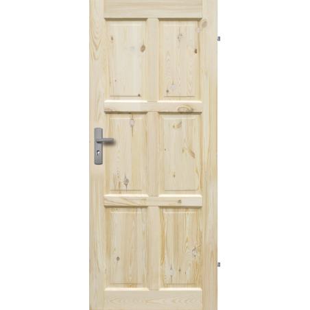 """Drzwi sosnowe, sęczne - Czapla pełne - Seria Classic - Drzwi wewnętrzne drewniane """"RADEX"""""""