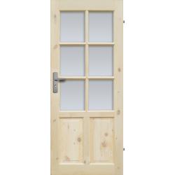 """Drzwi sosnowe, seczne - """"Czapla"""" wersja 6S - Seria Classic - Drzwi wewnetrzne drewniane """"RADEX"""""""