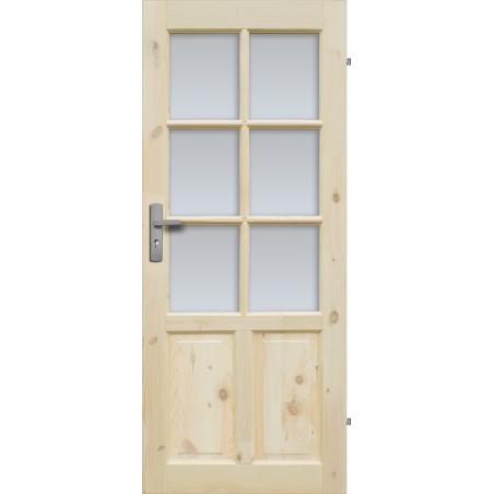 """Drzwi sosnowe, sęczne - """"Czapla"""" wersja 6S - Seria Classic - Drzwi wewnętrzne drewniane """"RADEX"""""""