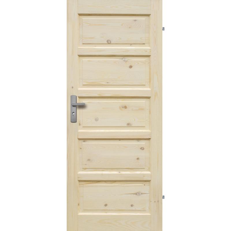 """Drzwi sosnowe, seczne - """"Ilawa"""" pelne - Seria Classic - Drzwi wewnetrzne drewniane """"RADEX"""""""