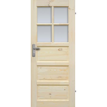 """Drzwi sosnowe, sęczne - """"Iława"""" wersja 4S - Seria Classic - Drzwi wewnętrzne drewniane """"RADEX"""""""