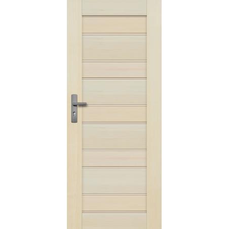 """Drzwi sosnowe, bezsęczne - Marbella pełne - Seria Premium - Drzwi wewnętrzne drewniane """"RADEX"""""""