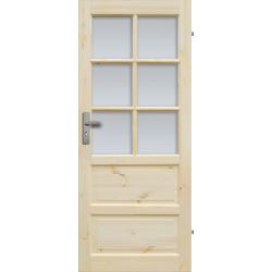 """Drzwi sosnowe, seczne - """"Ilawa"""" wersja 6S - Seria Classic - Drzwi wewnetrzne drewniane """"RADEX"""""""