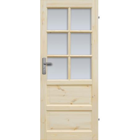 """Drzwi sosnowe, sęczne - """"Iława"""" wersja 6S - Seria Classic - Drzwi wewnętrzne drewniane """"RADEX"""""""