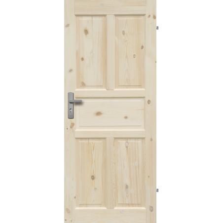 """Drzwi sosnowe, sęczne - """"Londyn Lux"""" pełne - Seria Classic - Drzwi wewnętrzne drewniane """"RADEX"""""""
