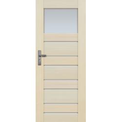 """Drzwi sosnowe, bezsęczne - Marbella z 8 szybami - Seria Premium - Drzwi wewnętrzne drewniane """"RADEX"""""""