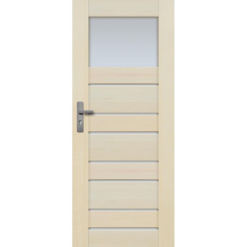 """Drzwi sosnowe, bezseczne - Marbella z 8 szybami - Seria Premium - Drzwi wewnetrzne drewniane """"RADEX"""""""