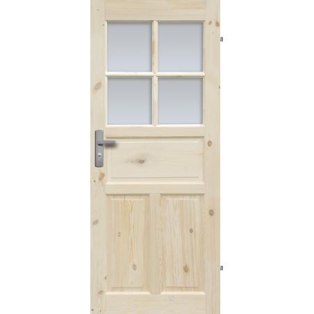 """Drzwi sosnowe, sęczne - """"Londyn Lux"""" wersja 4S- Seria Classic- Drzwi wewnętrzne drewniane """"RADEX"""""""